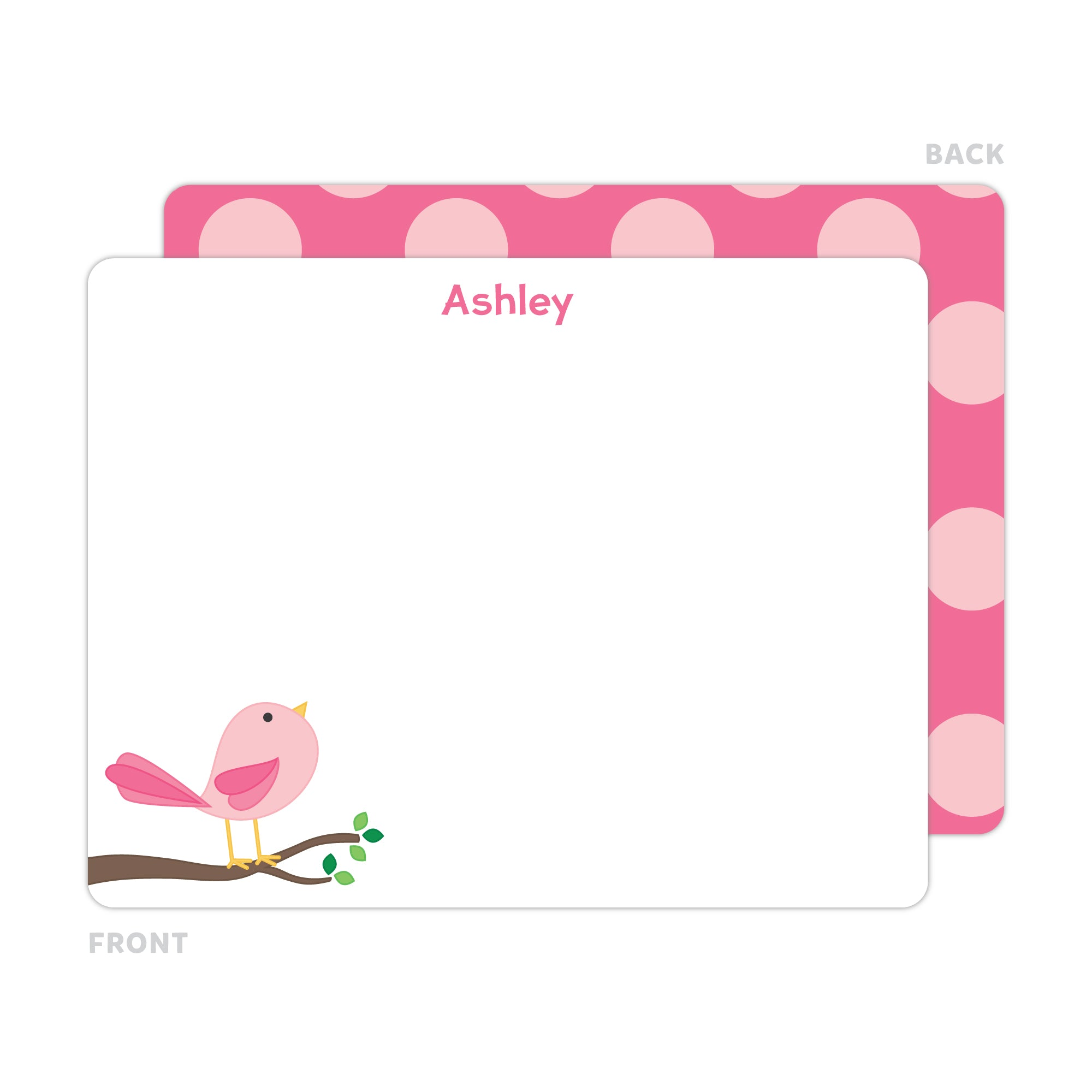 Cute Bird Note Cards - Thank You Cards