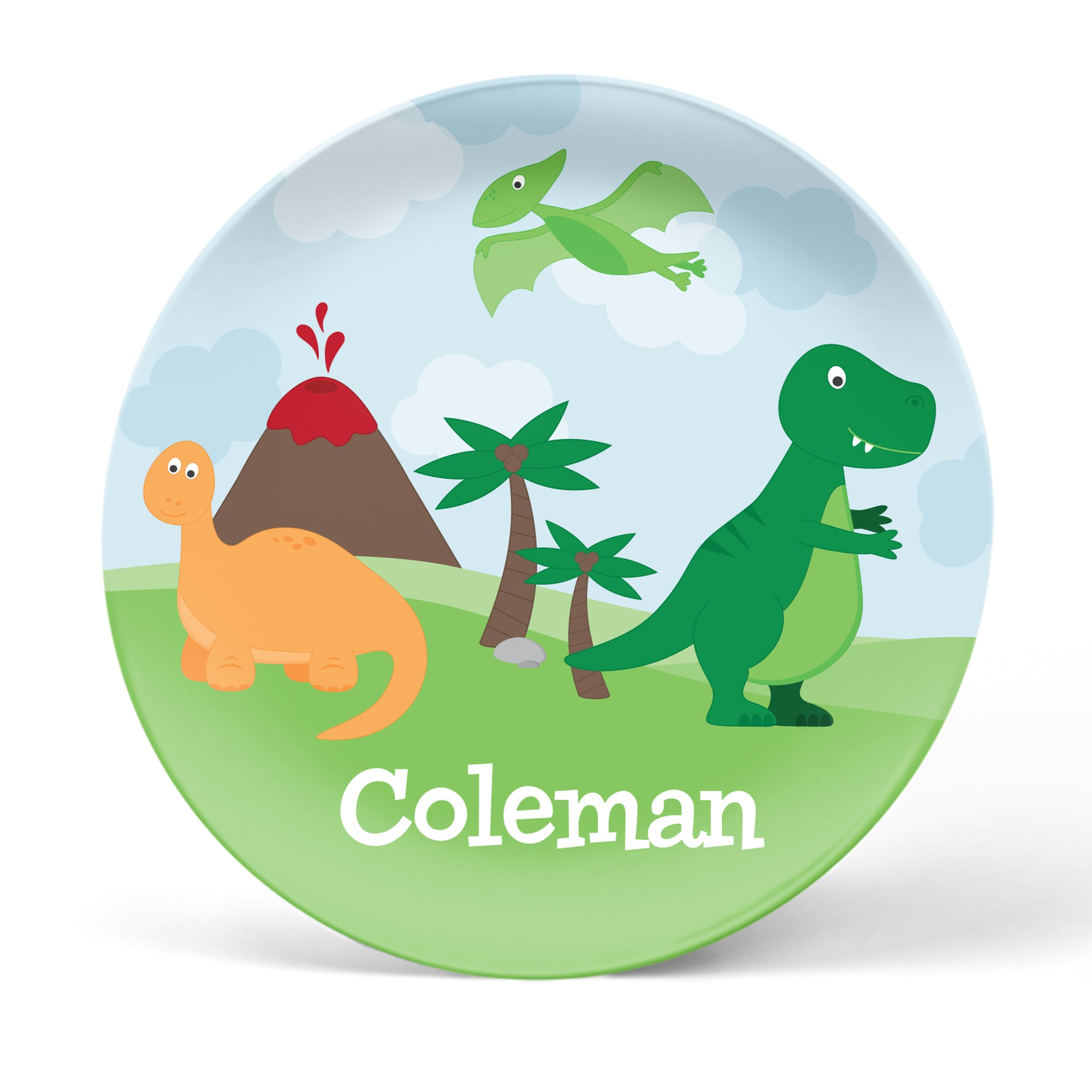 Dinosaur Personalized Plate