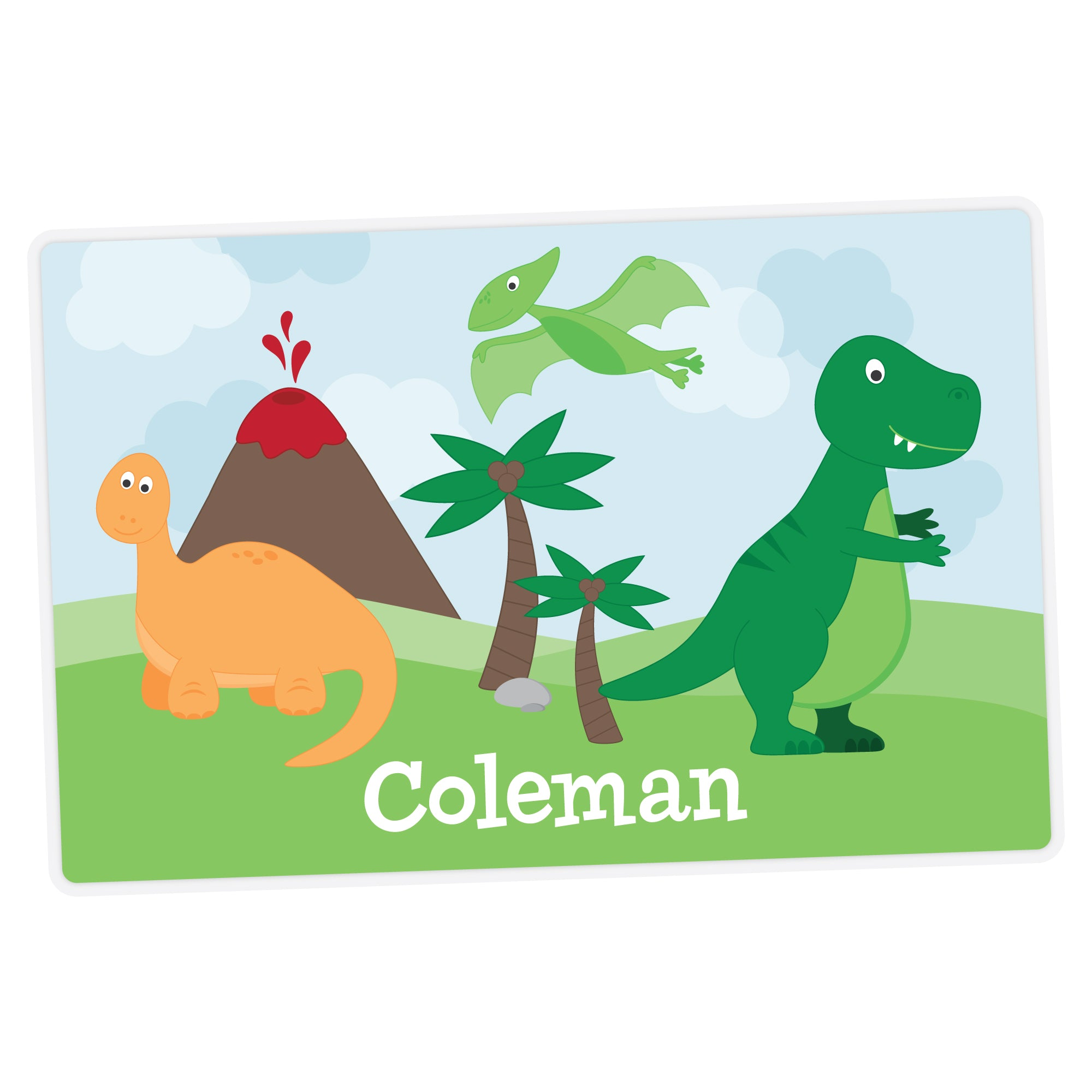 Personalized Kids Placemat - Dinosaur