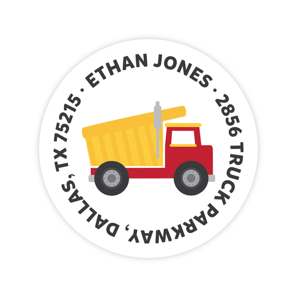 Dump Truck Address Labels