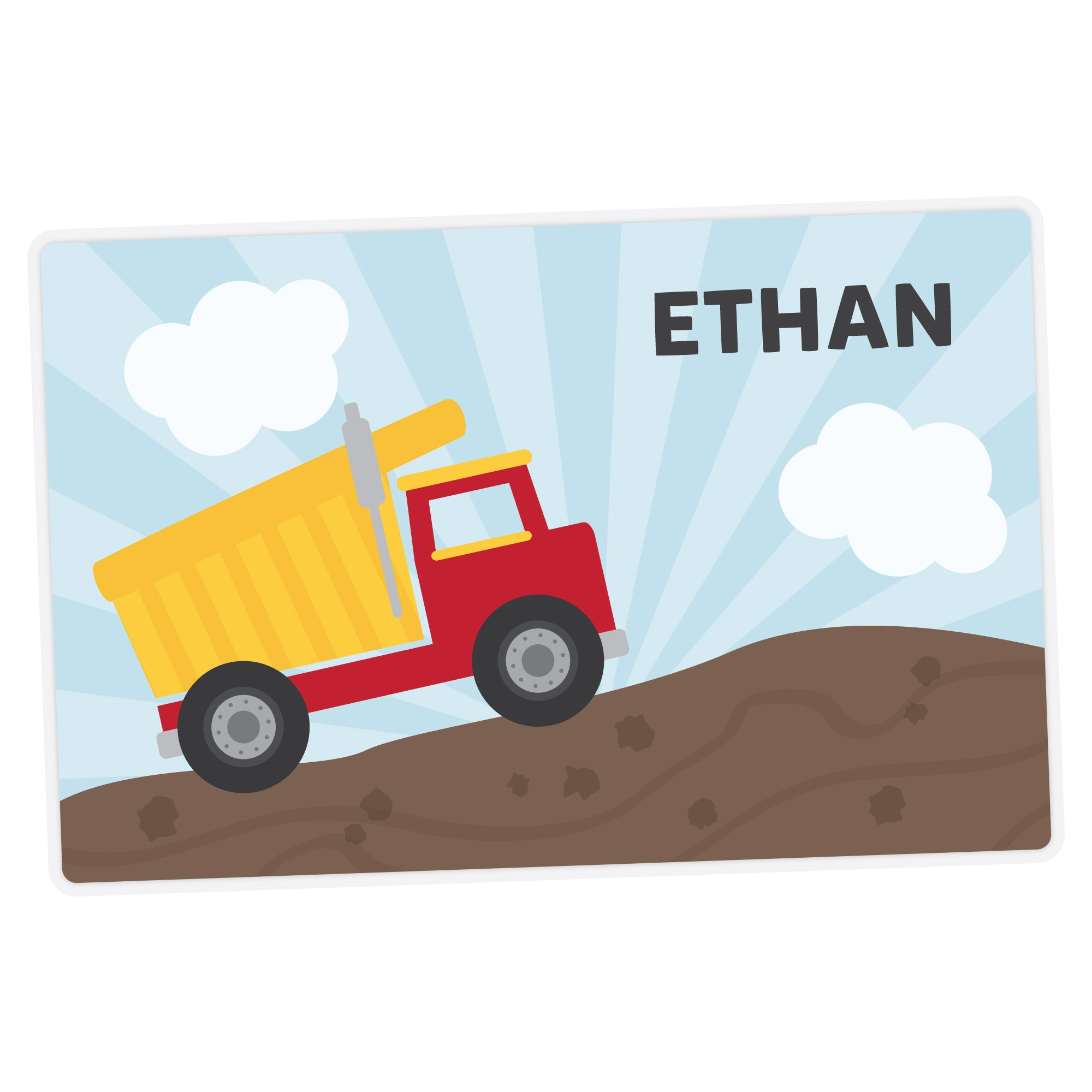 Dump Truck Personalized Placemat