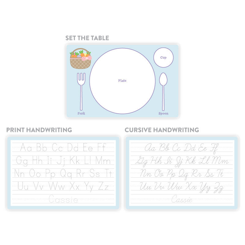 Placemat Back Options