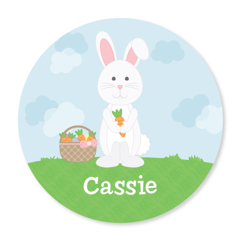 Personalized Kids Plate - Bunny