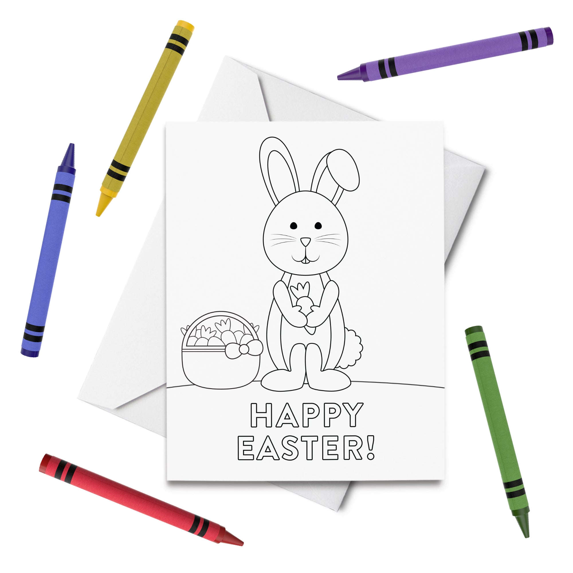 PRINTABLE Happy Easter Coloring Card