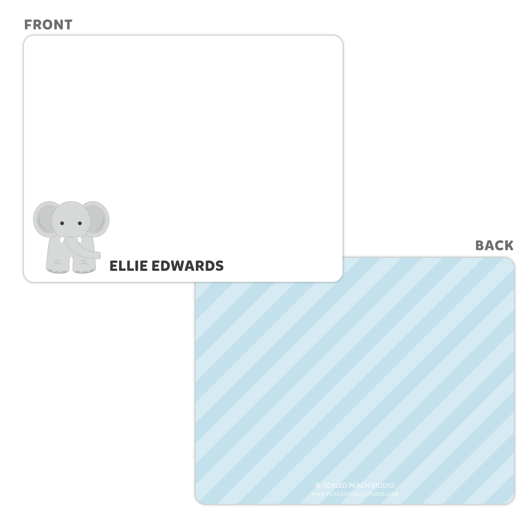 Elephant Note Cards - Thank You Cards