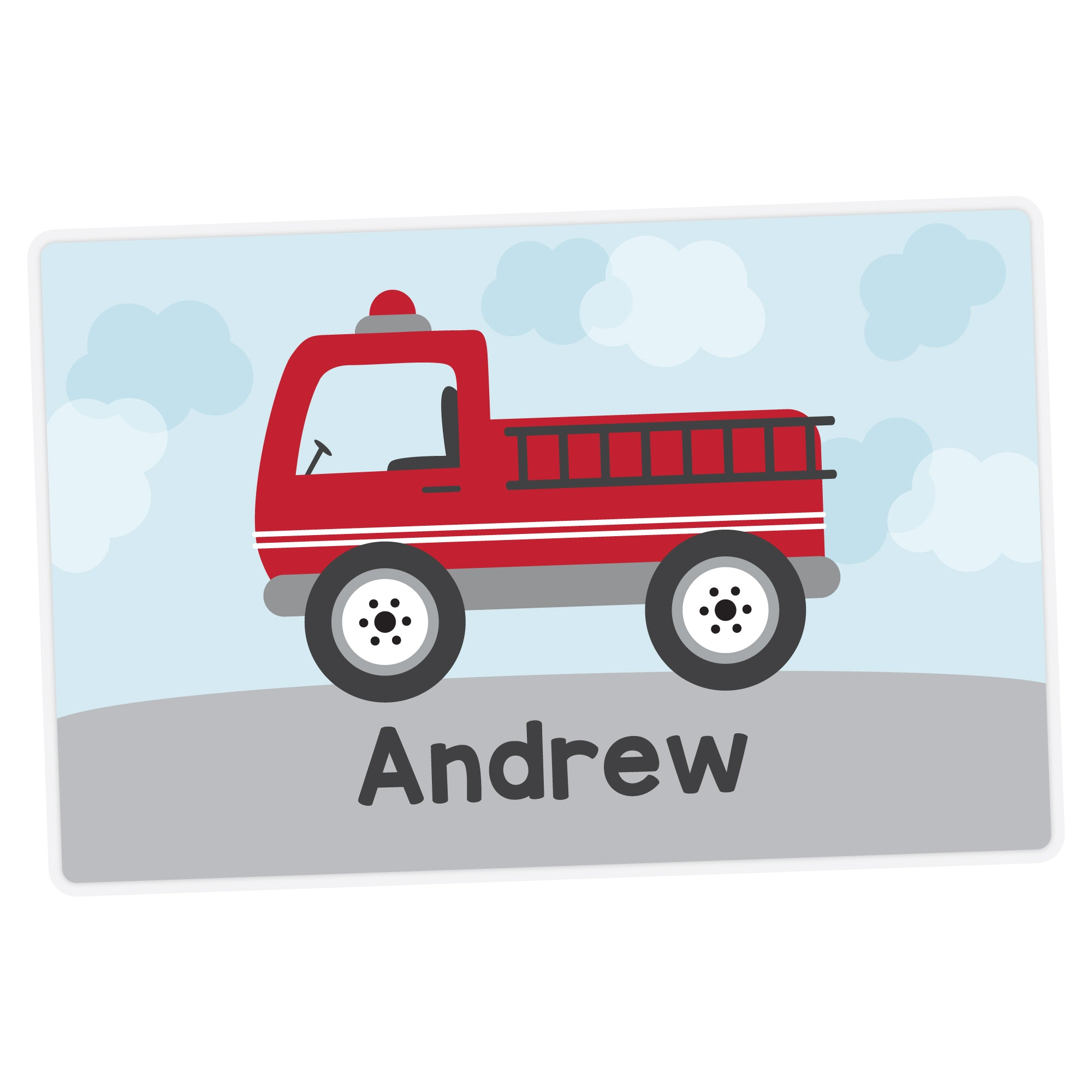 Fire Truck Personalized Placemat