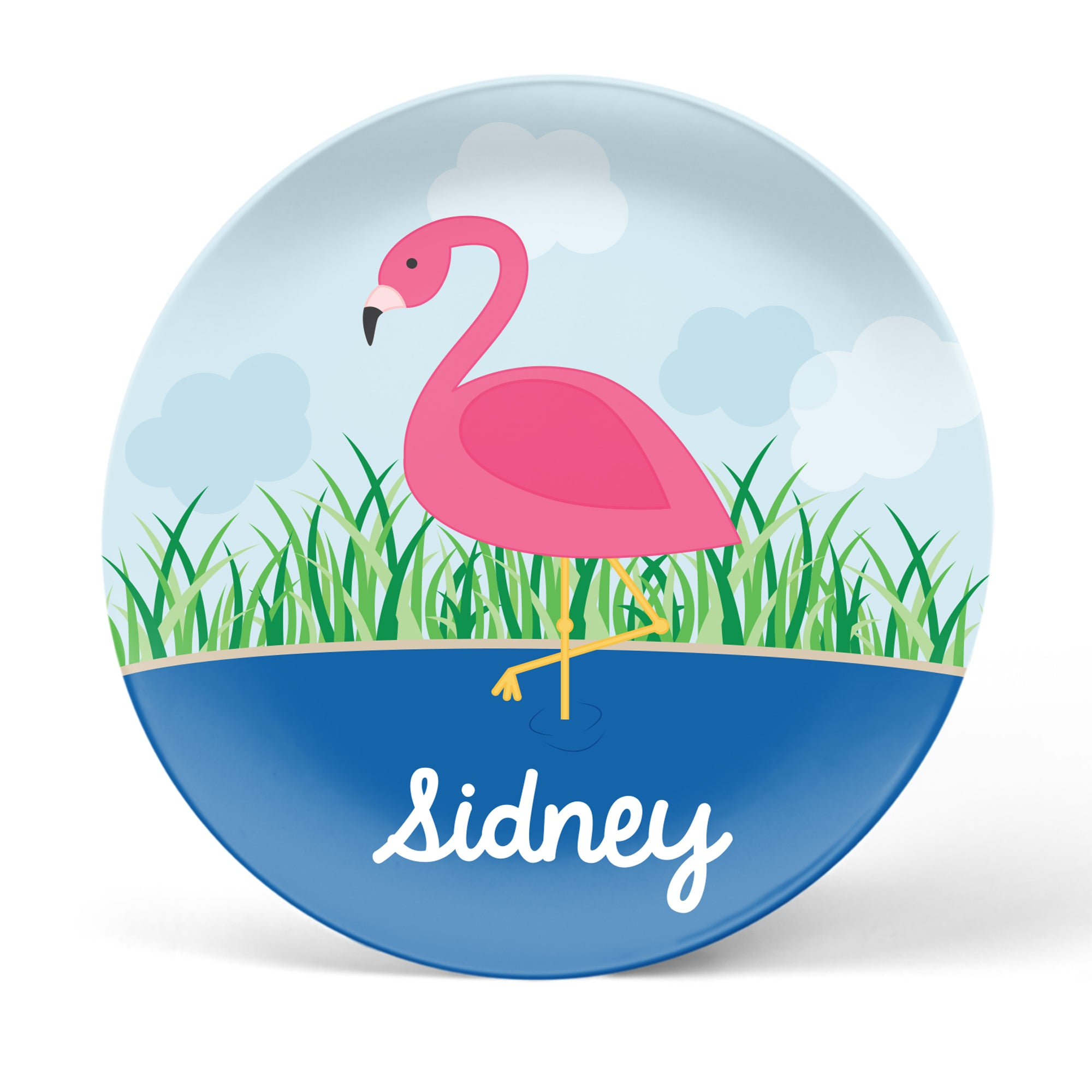 Flamingo Personalized Plate