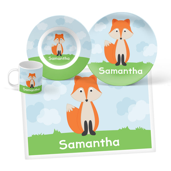 Fox Personalized Mealtime Set