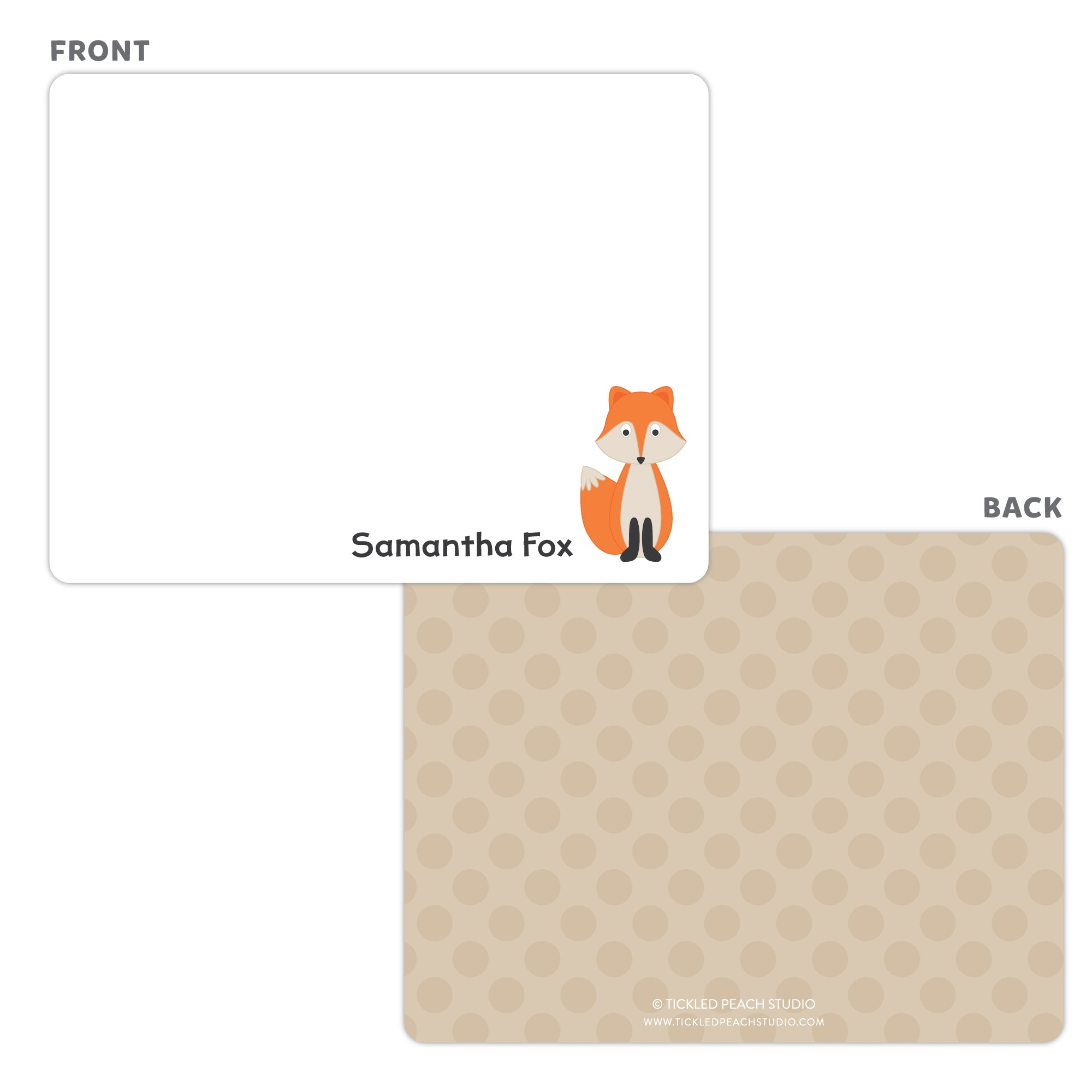 Fox Note Cards - Thank You Cards