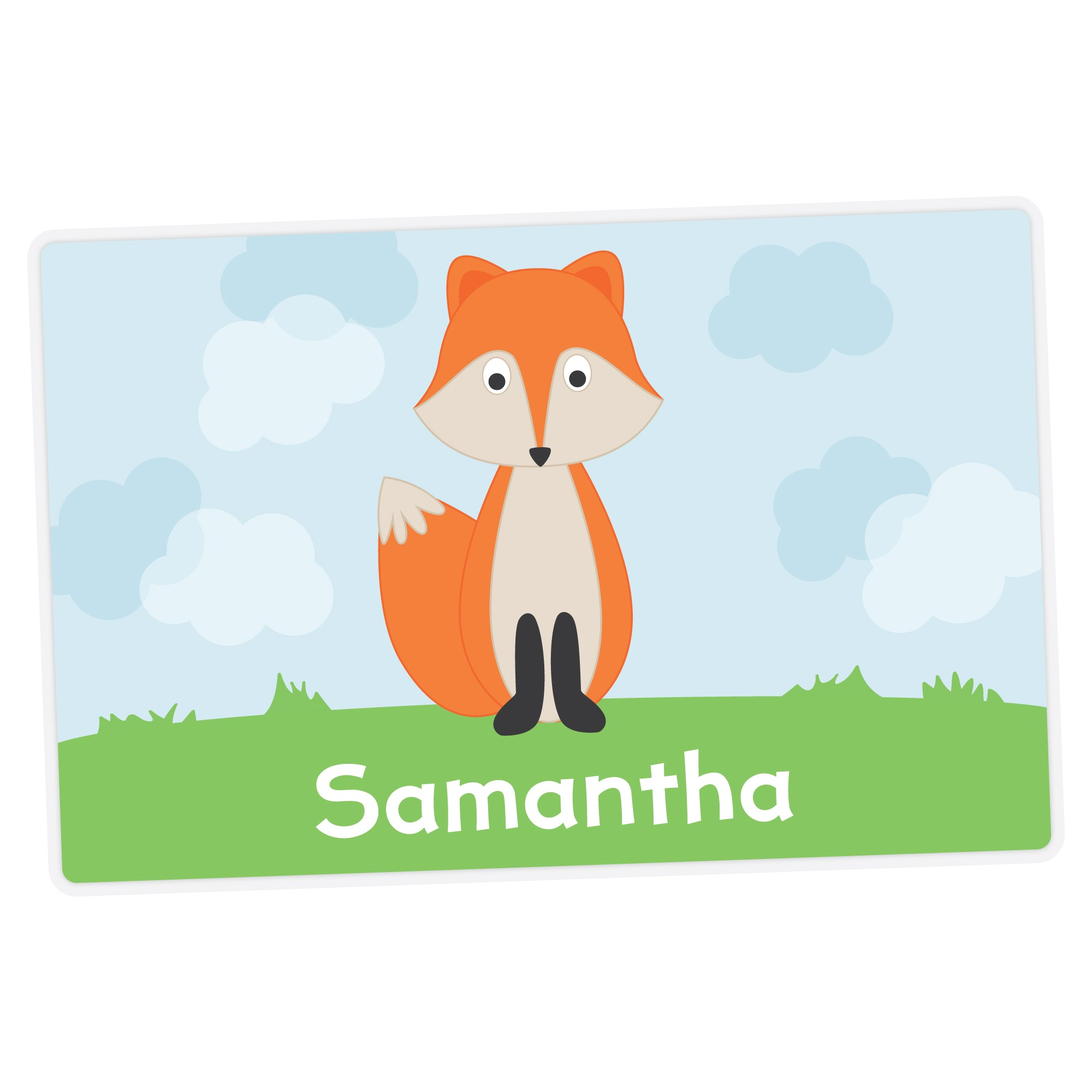 Fox Personalized Placemat