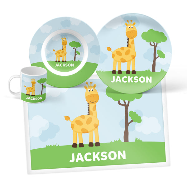 Giraffe Personalized Mealtime Set