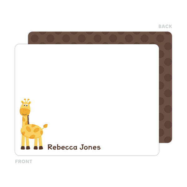Giraffe Note Cards - Thank You Cards