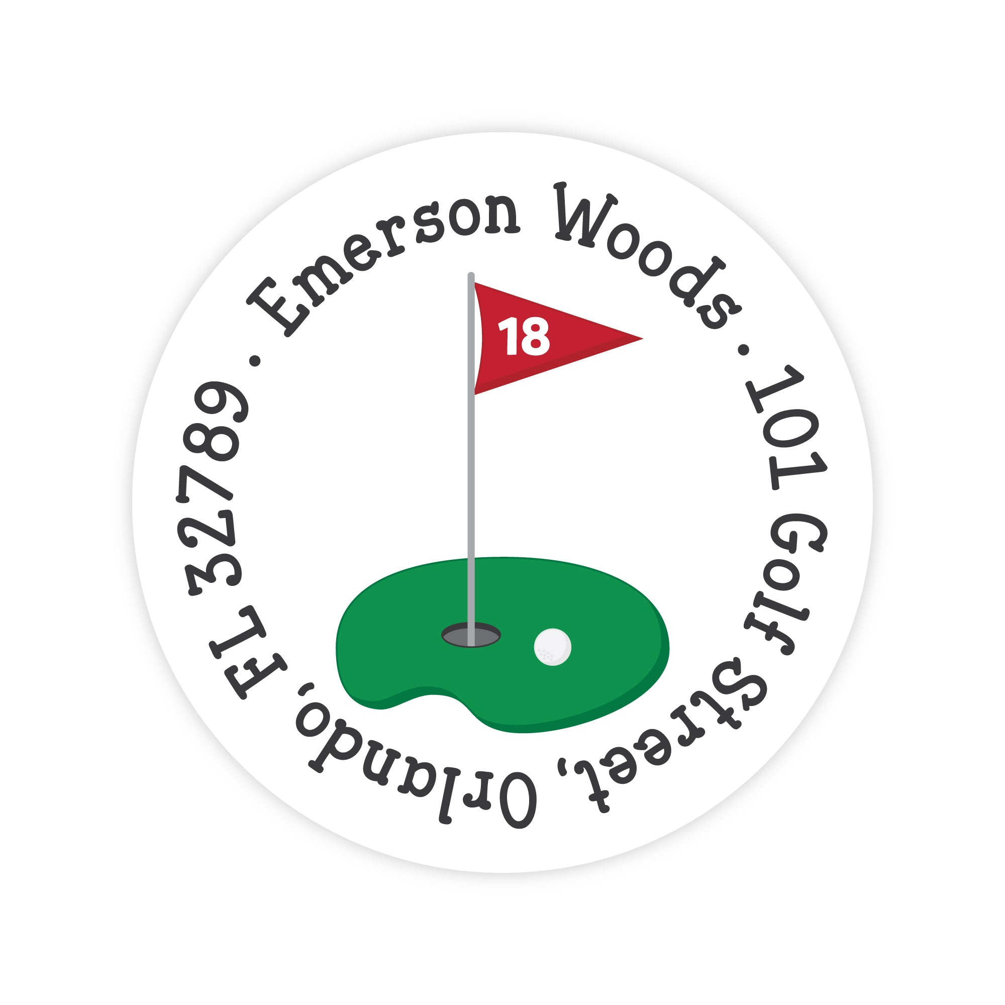 Golf Address Labels