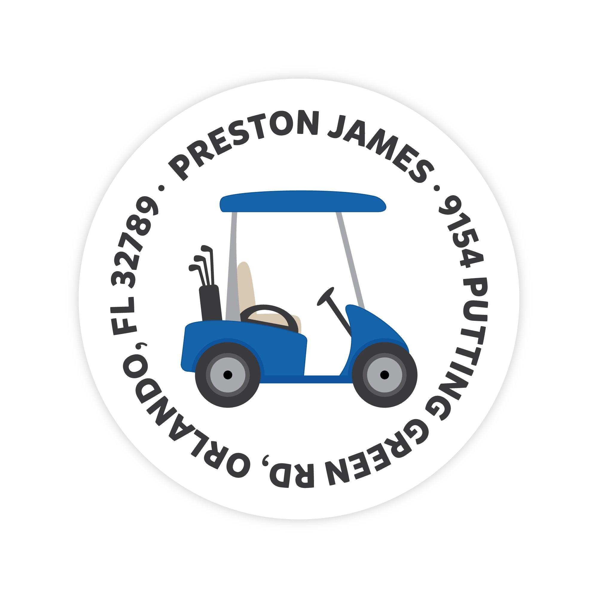 Golf Cart Address Labels