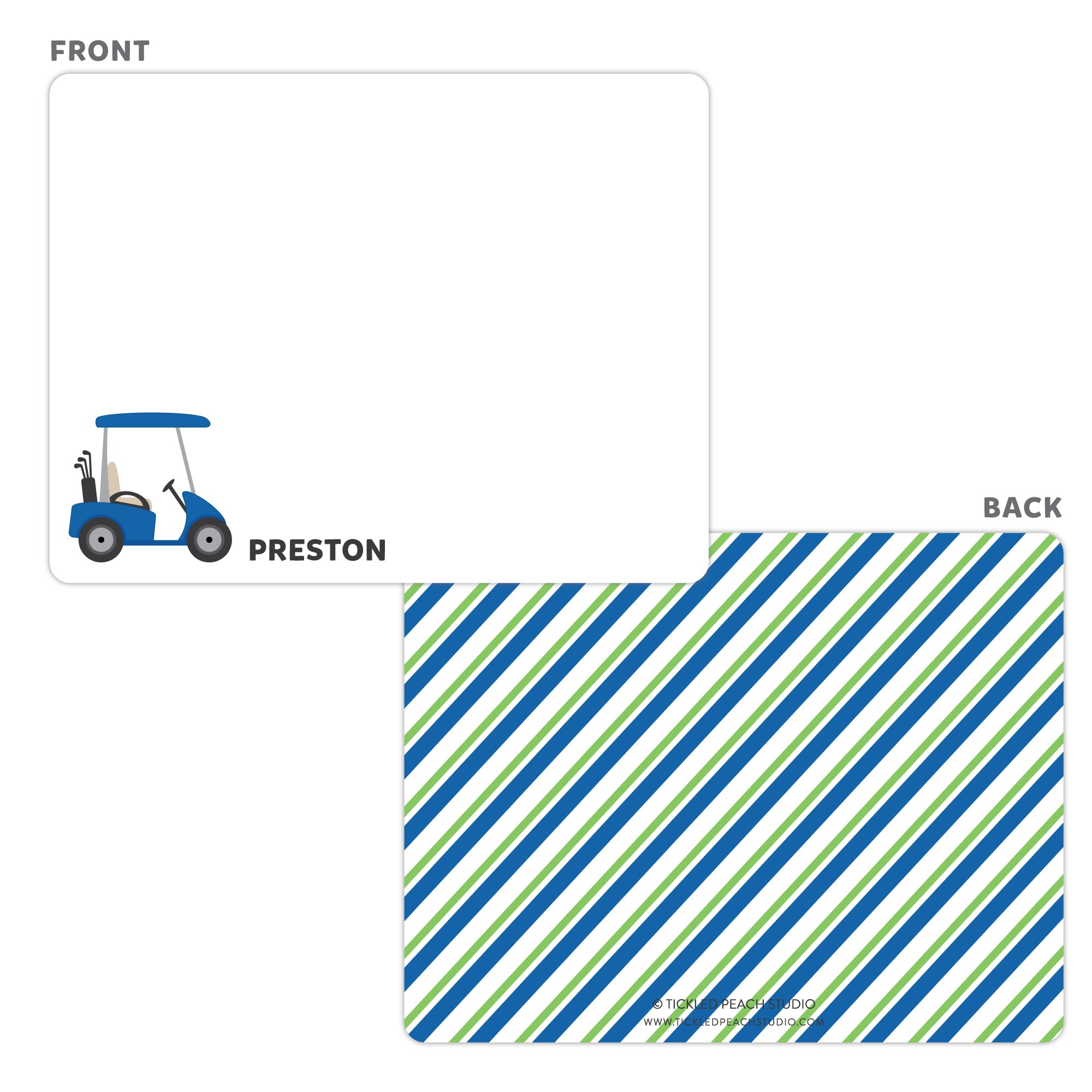 Golf Cart Note Cards