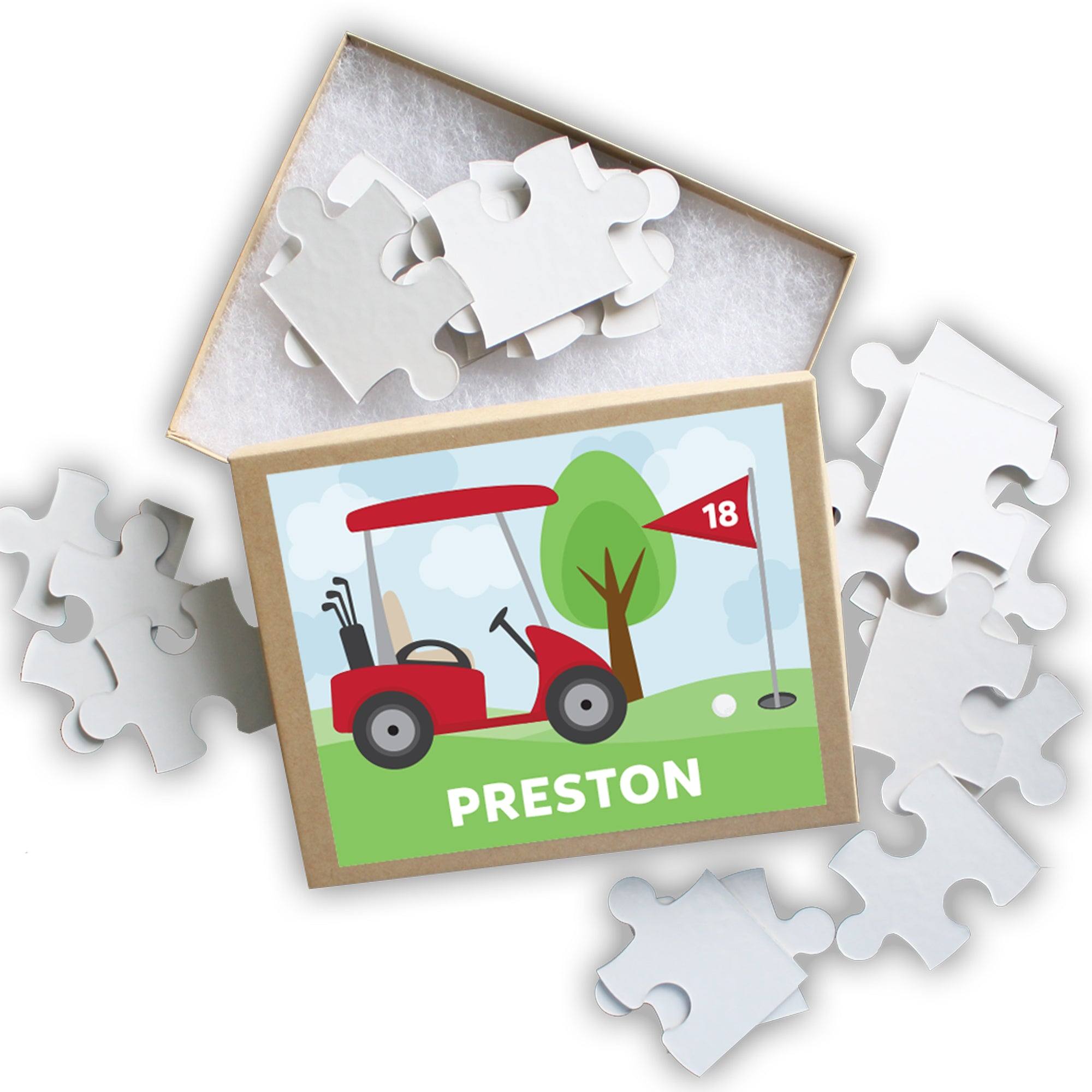 Golf Cart Personalized Puzzle