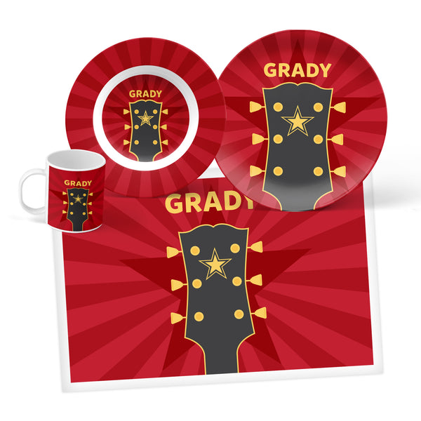 Guitar Personalized Mealtime Set