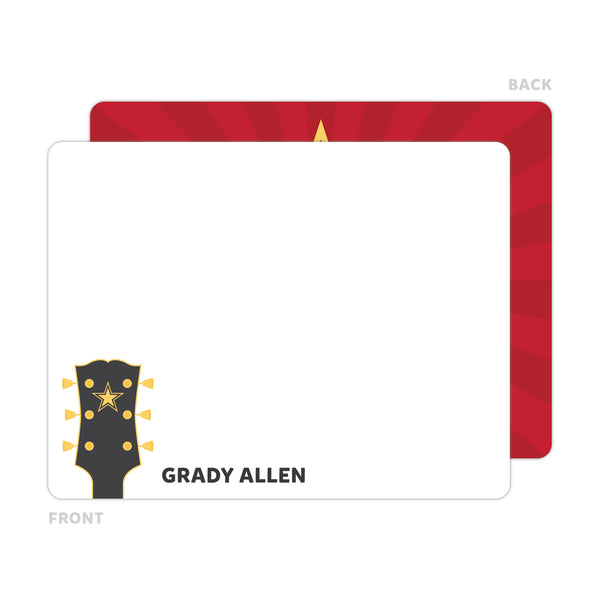 Guitar Note Cards - Thank You Cards