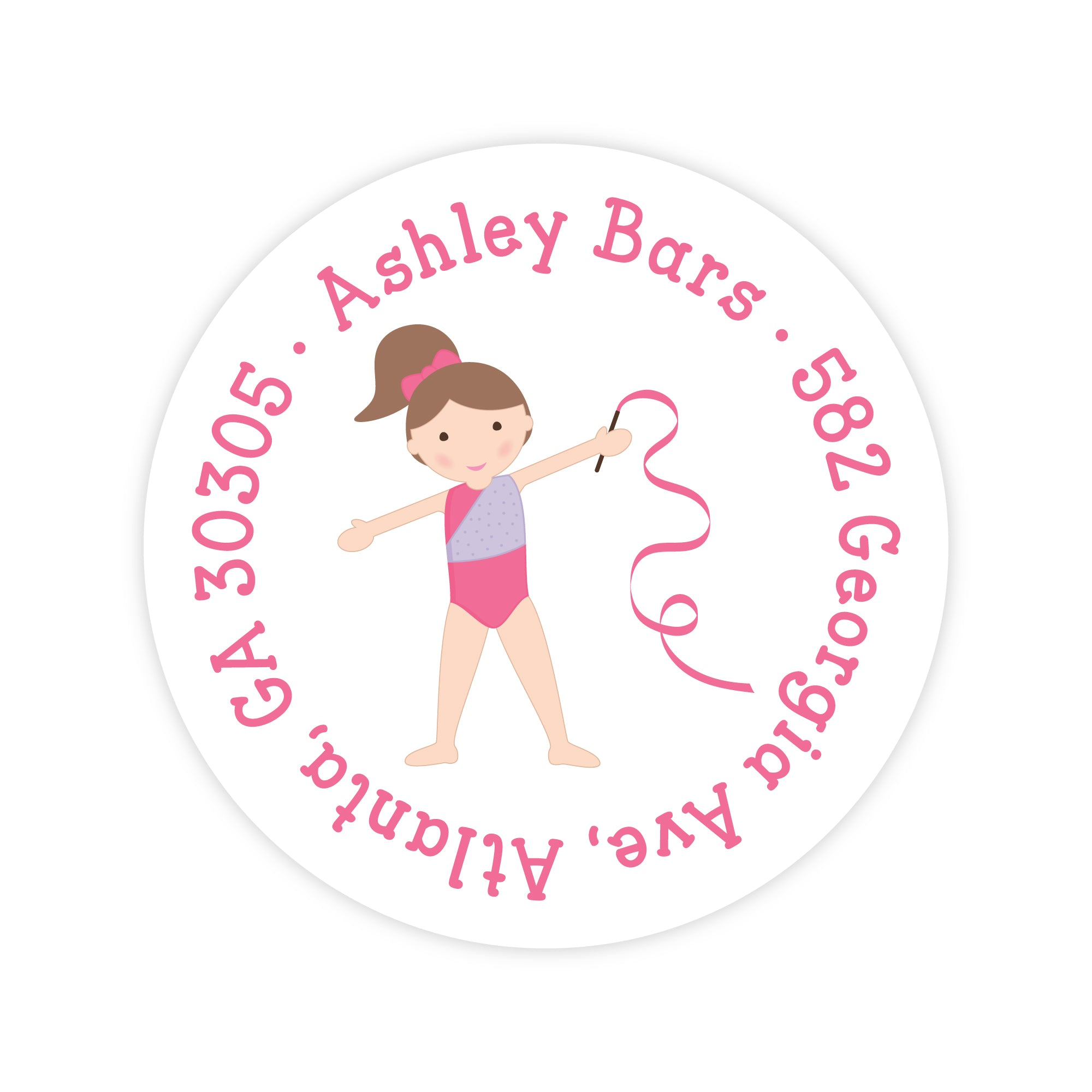 Gymnast Address Labels