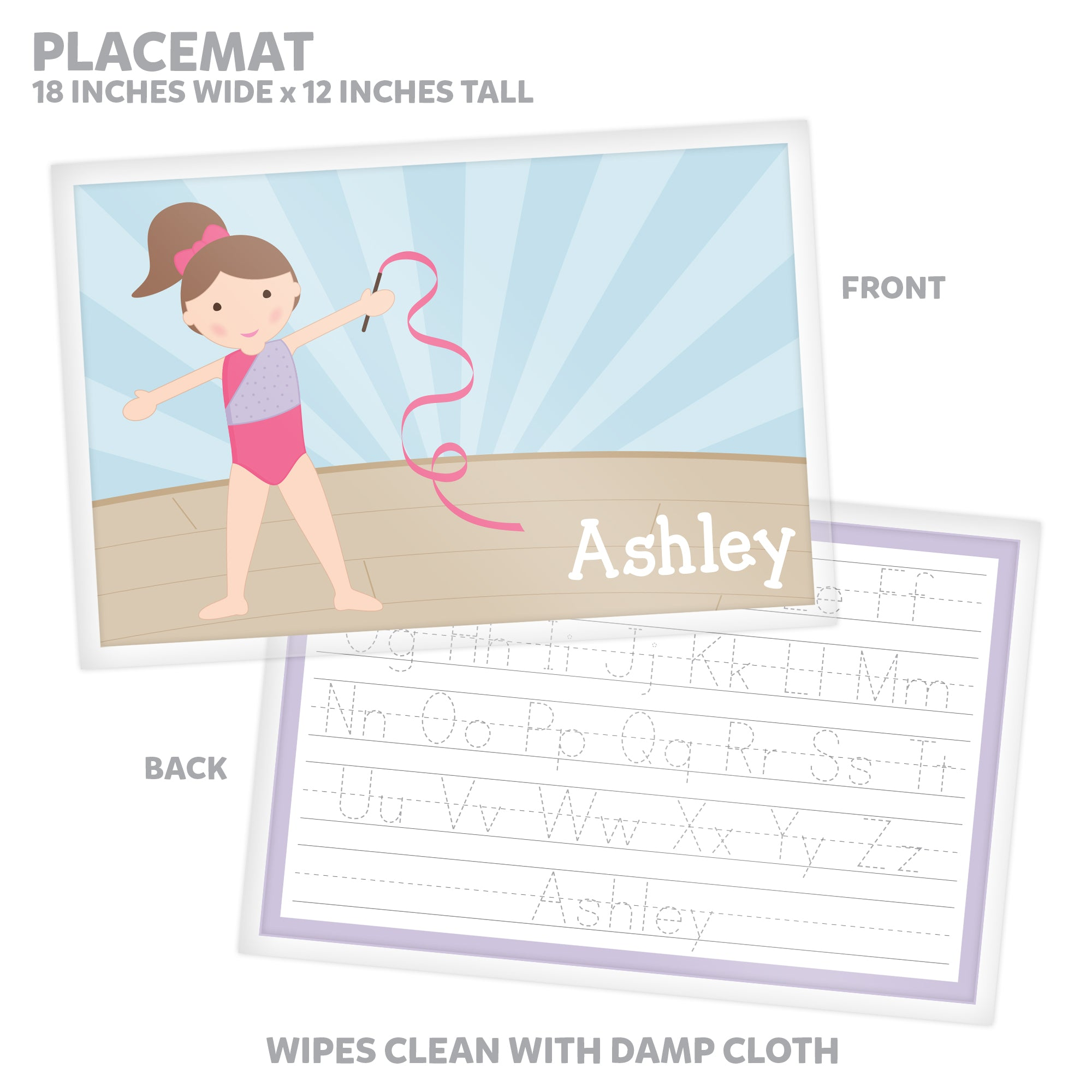Gymnast Personalized Mealtime Set