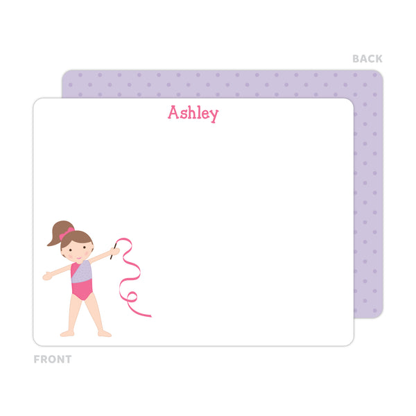 Gymnast Note Cards