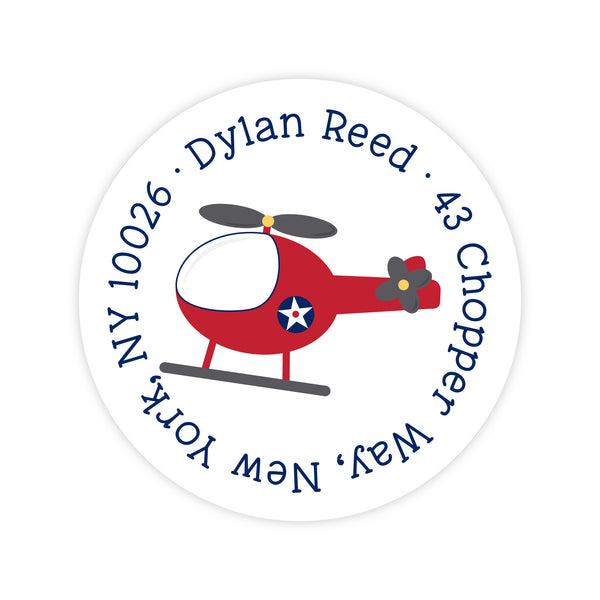 Helicopter Address Labels