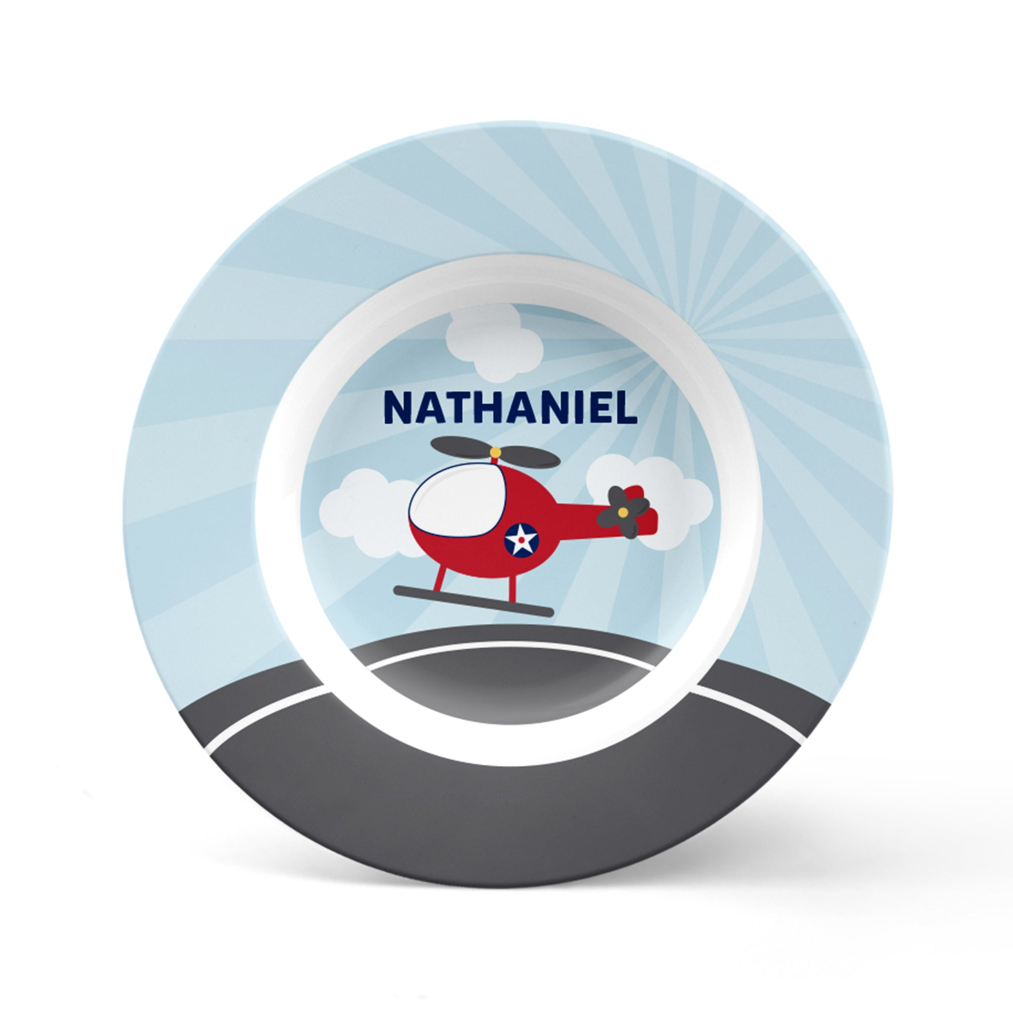 Helicopter Personalized Plate