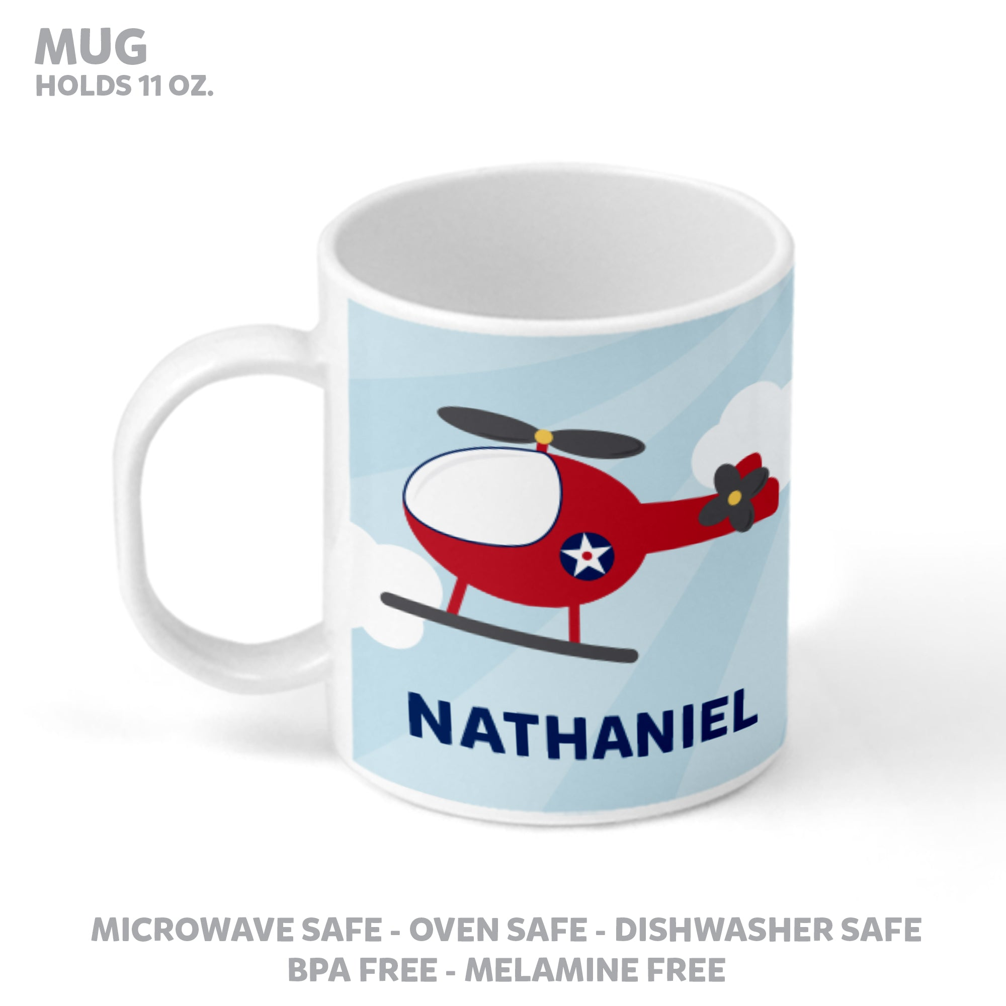 Helicopter Personalized Mealtime Set