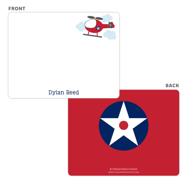 Helicopter Note Cards - Thank You Cards
