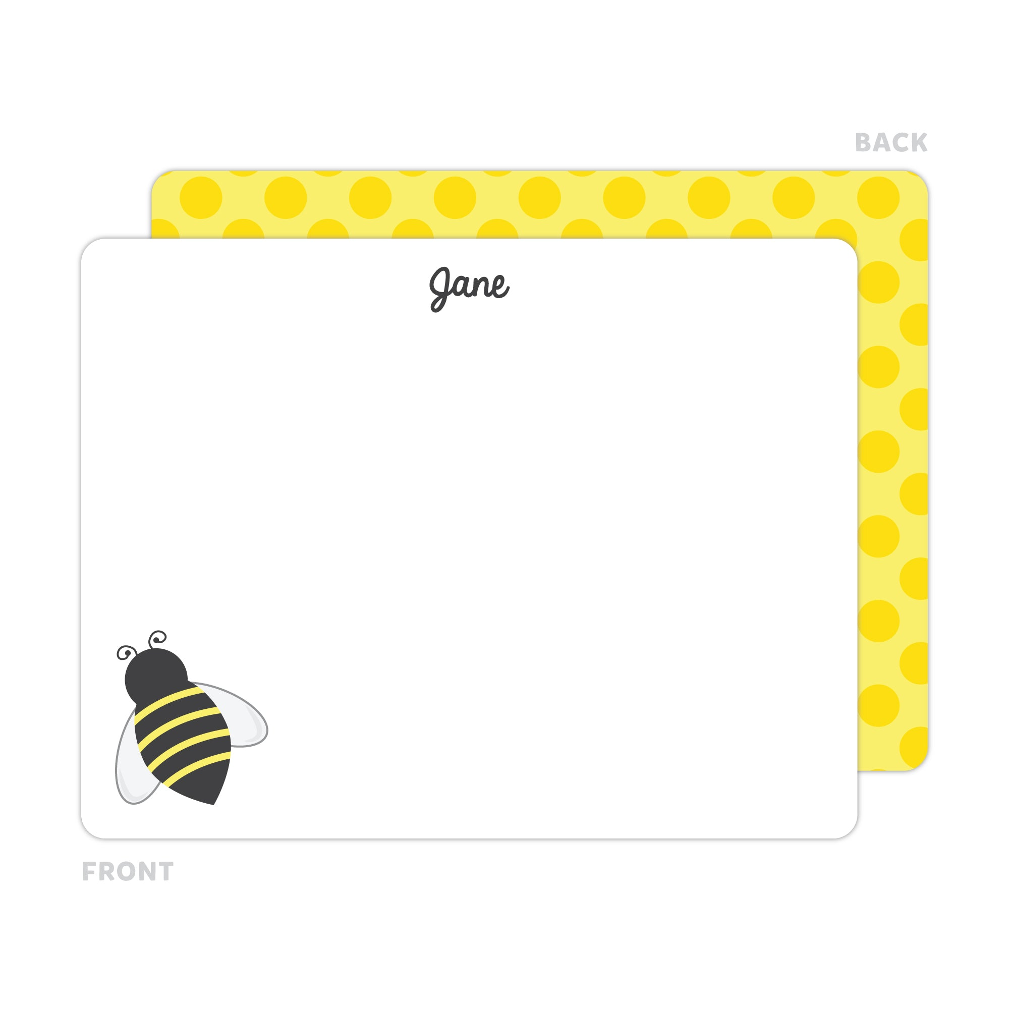 Honey Bee Note Cards - Thank You Cards