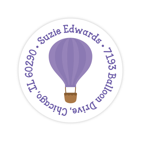 Hot Air Balloon Address Labels