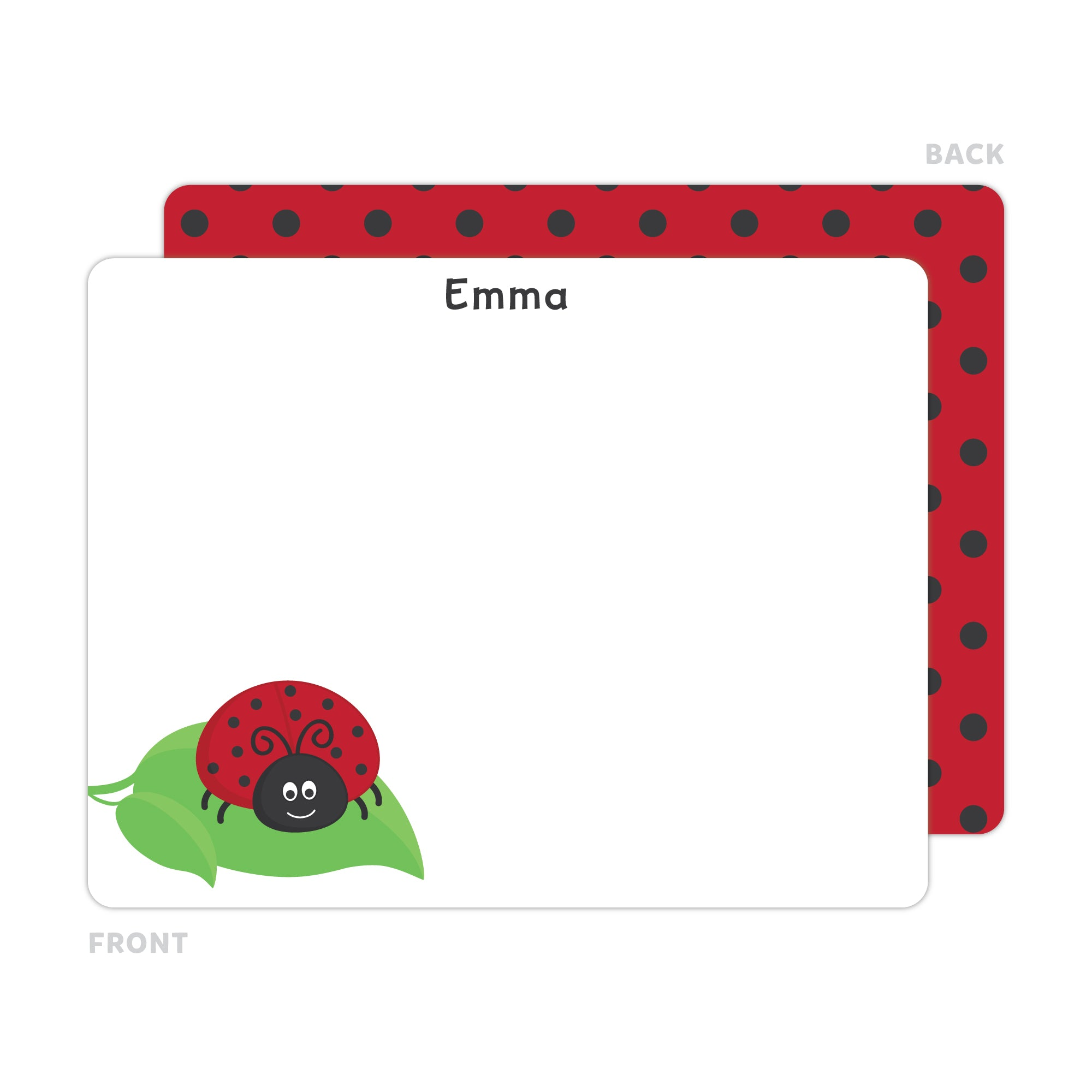 Ladybug Note Cards - Thank You Cards