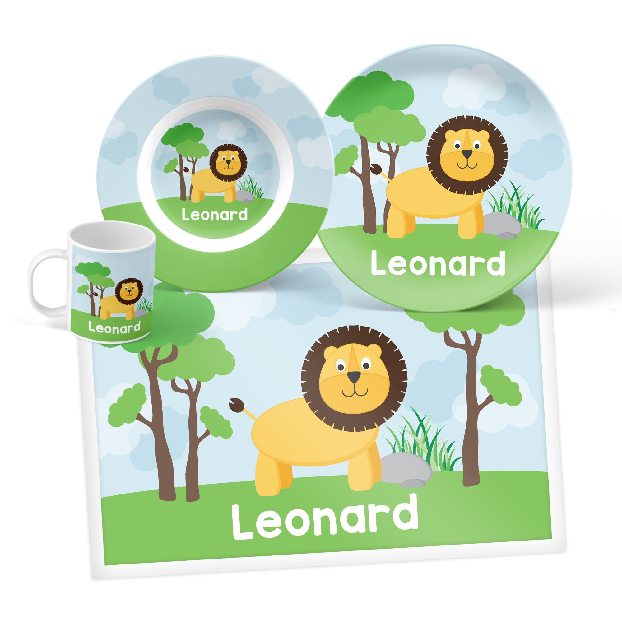 Lion Personalized Mealtime Set