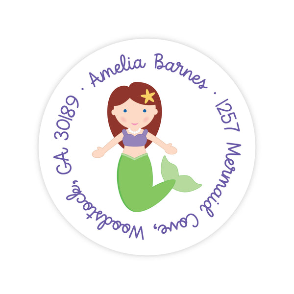 Mermaid Address Labels