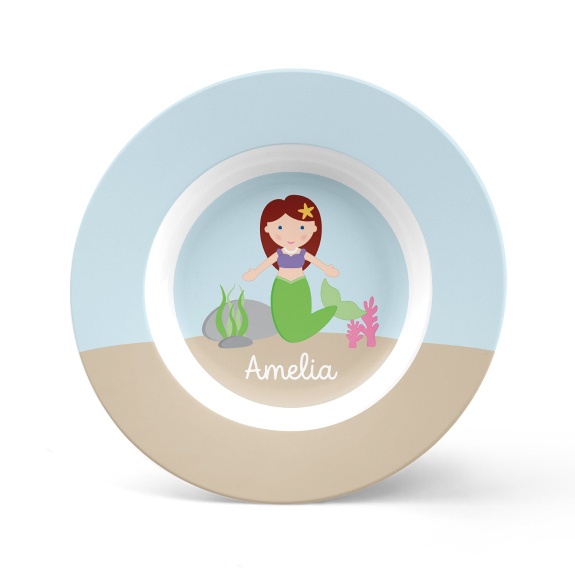 Mermaid Personalized Plate
