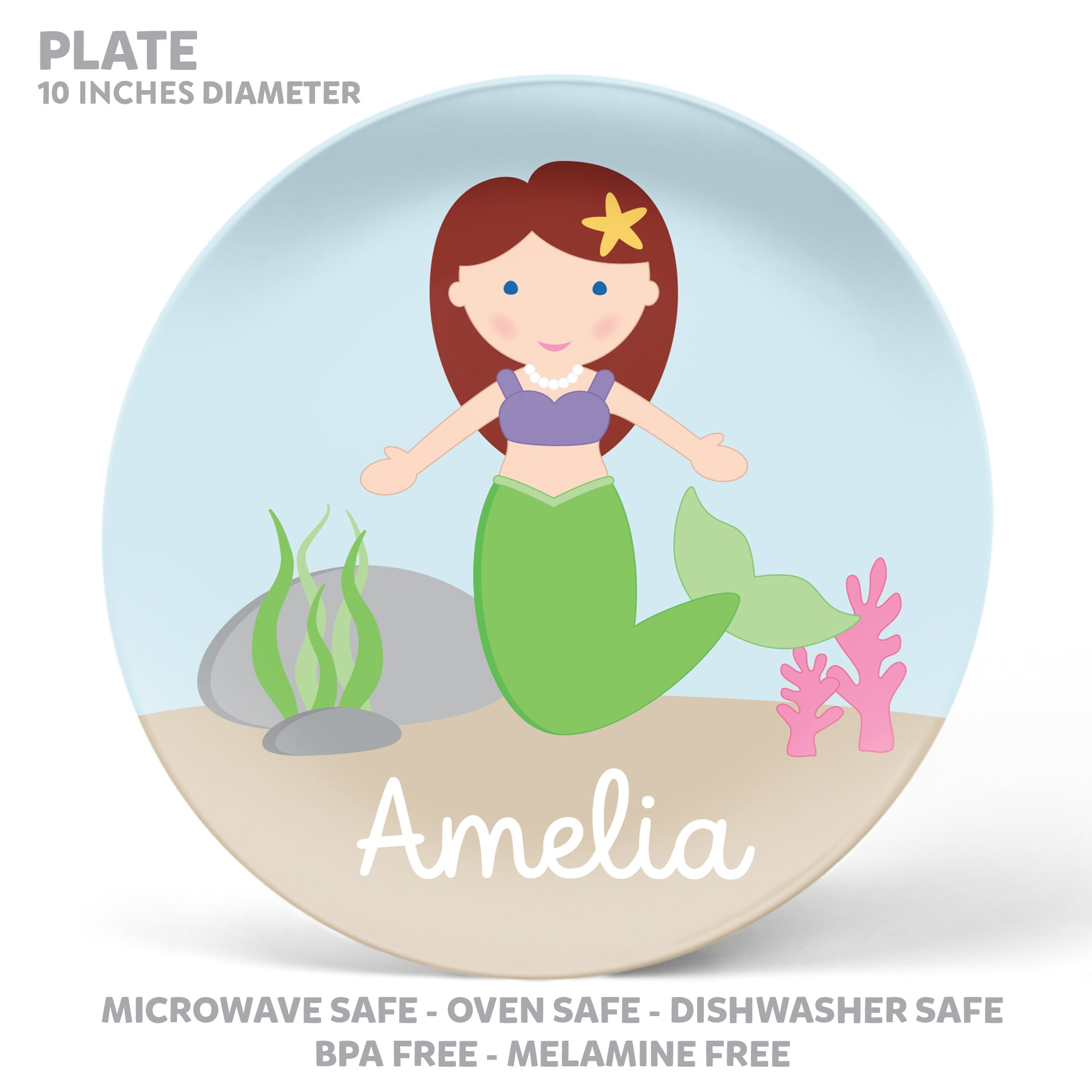 Mermaid Personalized Mealtime Set