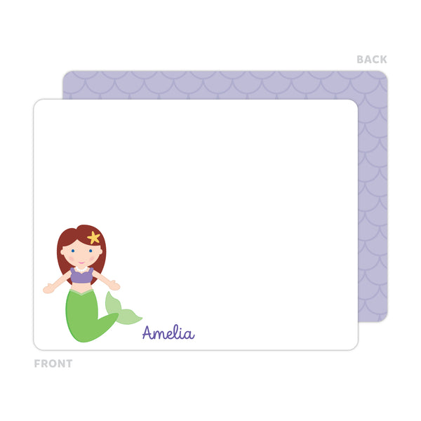 Mermaid Note Cards - Thank You Cards