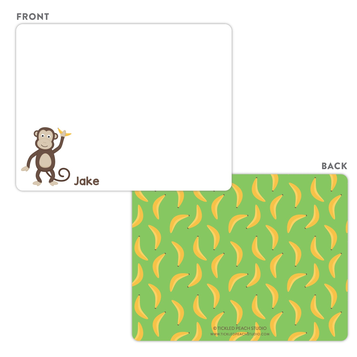 Monkey Note Cards
