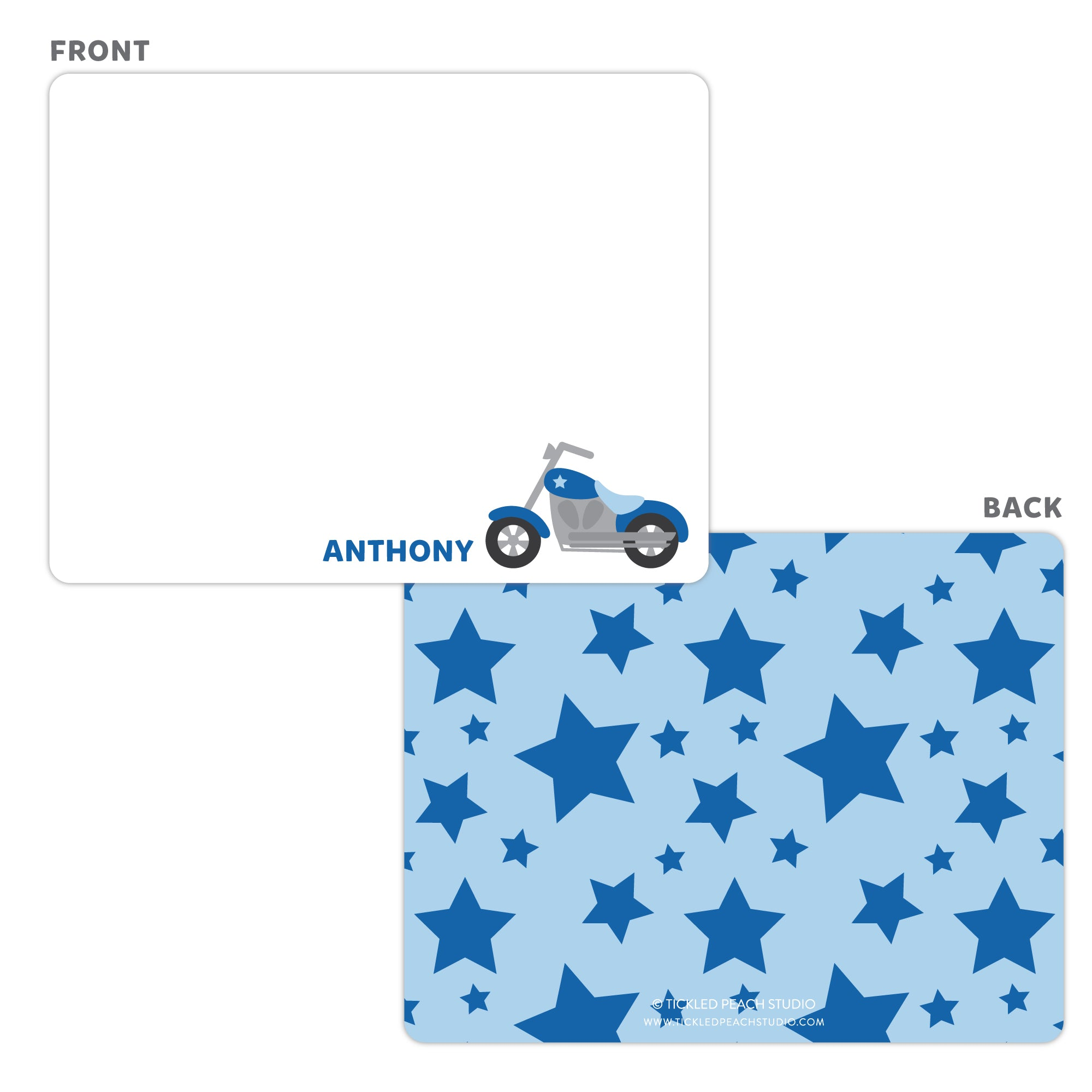 Motorcycle Note Cards - Thank You Cards