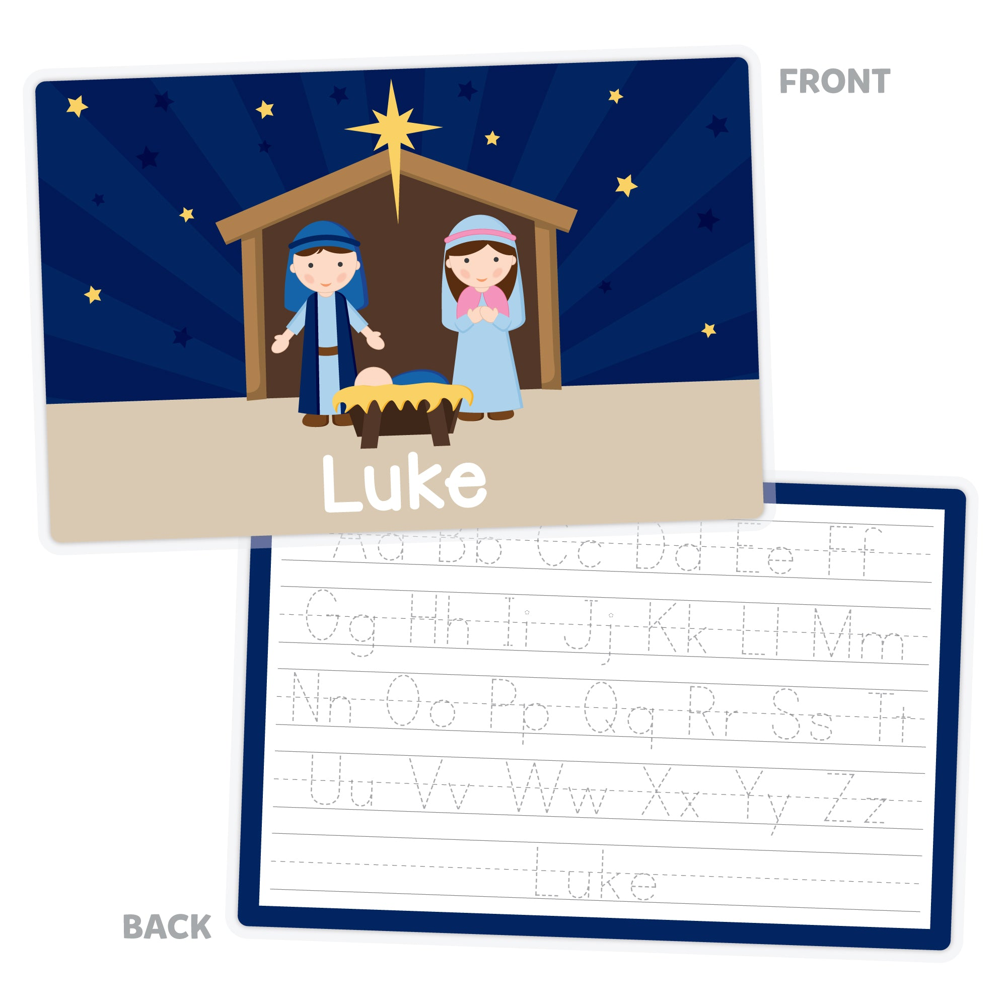Nativity Personalized Placemat