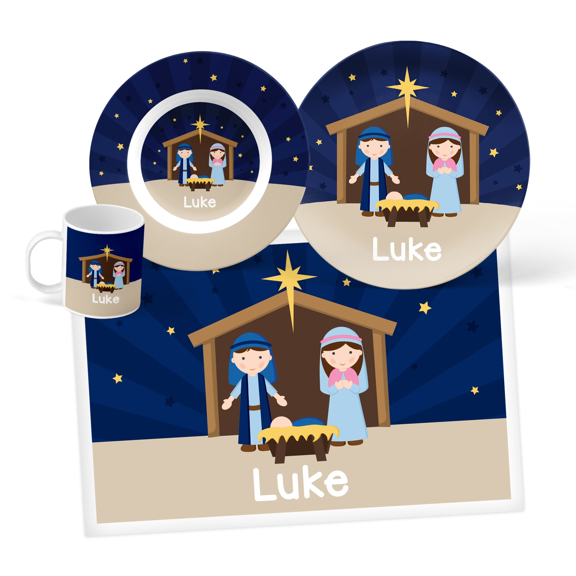Nativity Personalized Mealtime Set
