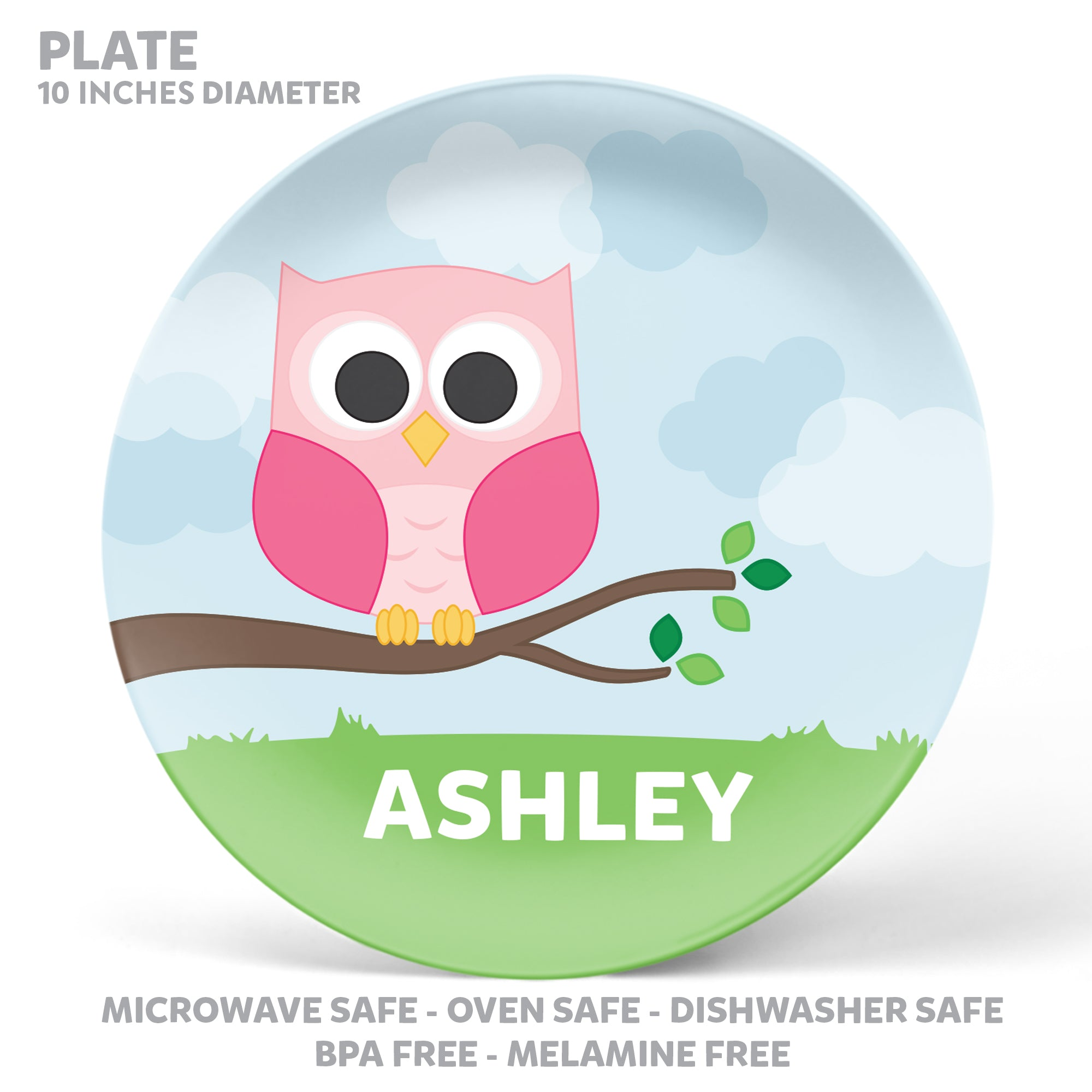Owl Personalized Mealtime Set