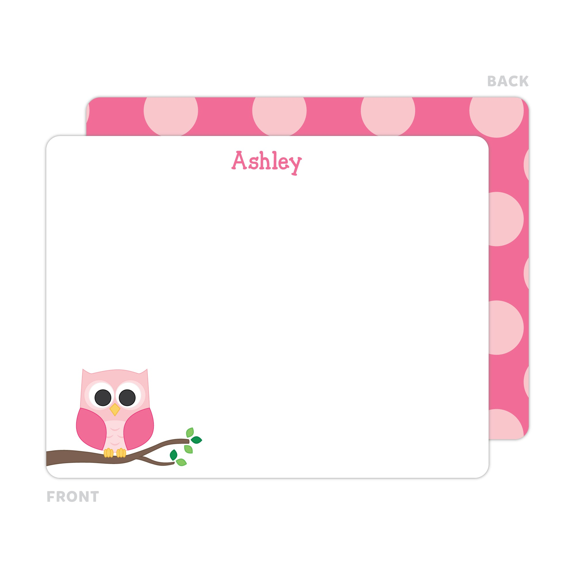 Owl Note Cards - Thank You Cards