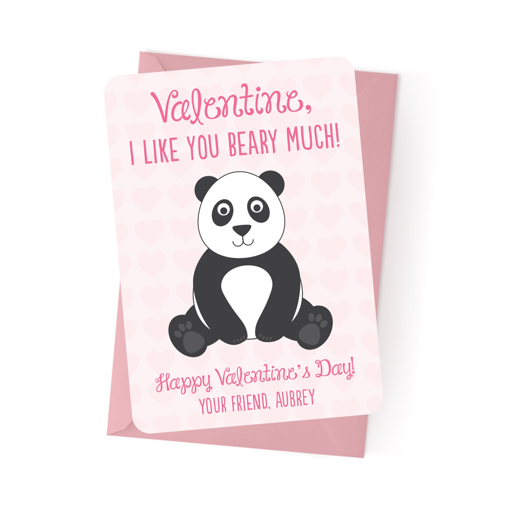 Panda Personalized Valentine's Day Cards