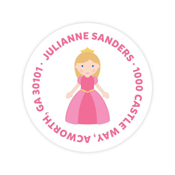 Princess Address Labels