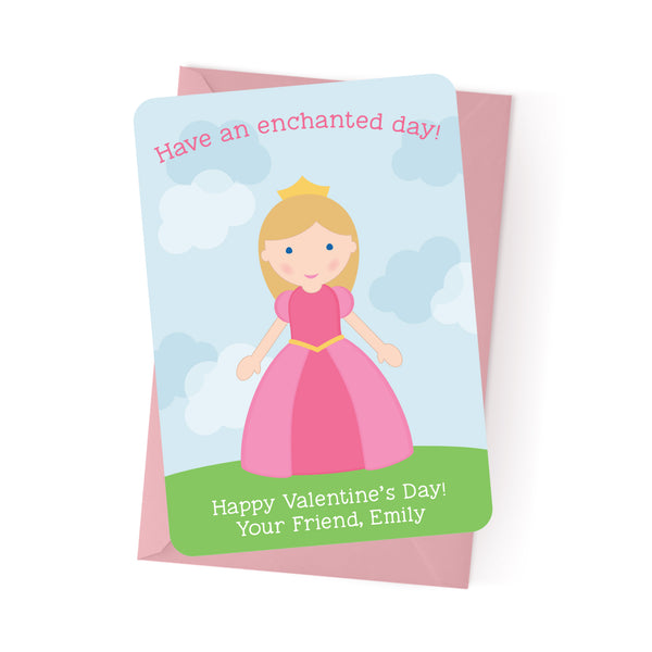 Princess Personalized Valentine's Day Cards