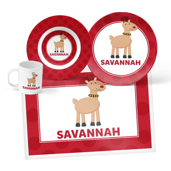 Reindeer Personalized Mealtime Set