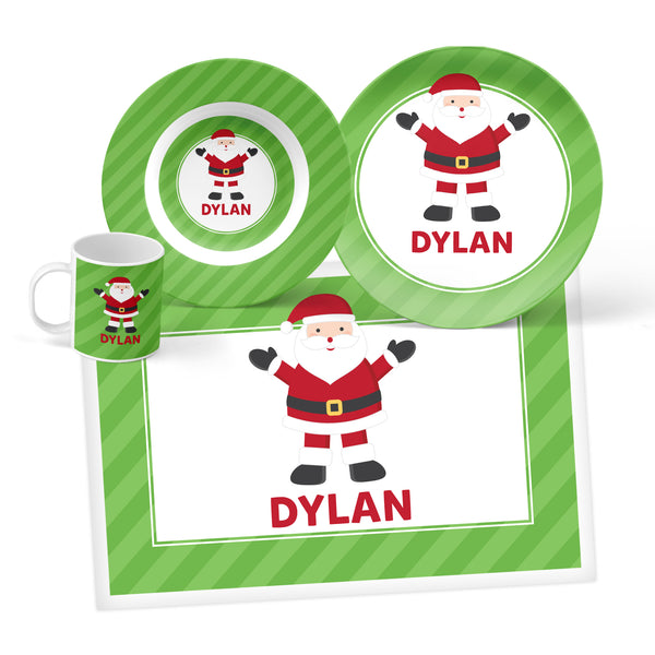 Santa Personalized Mealtime Set