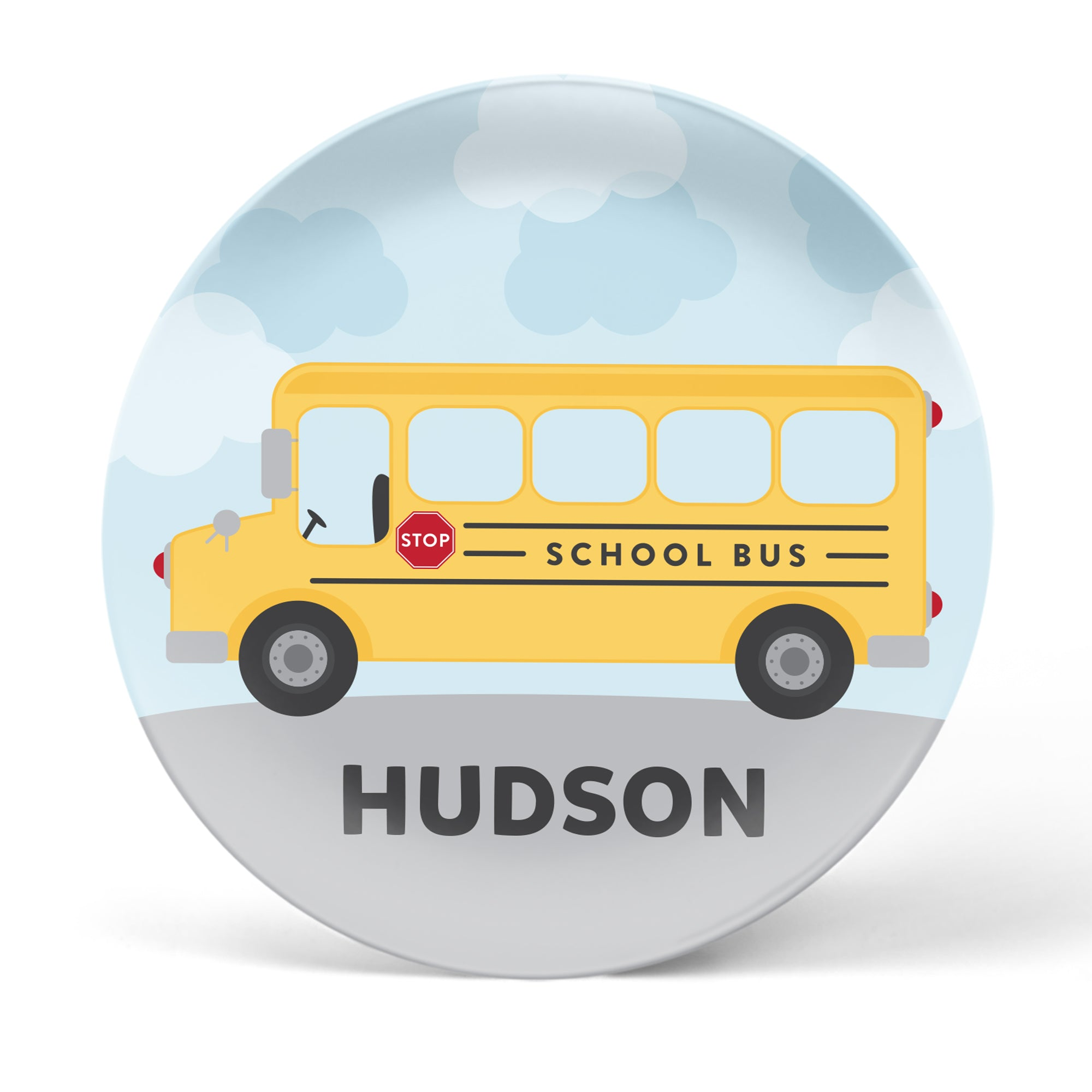 School Bus Personalized Plate