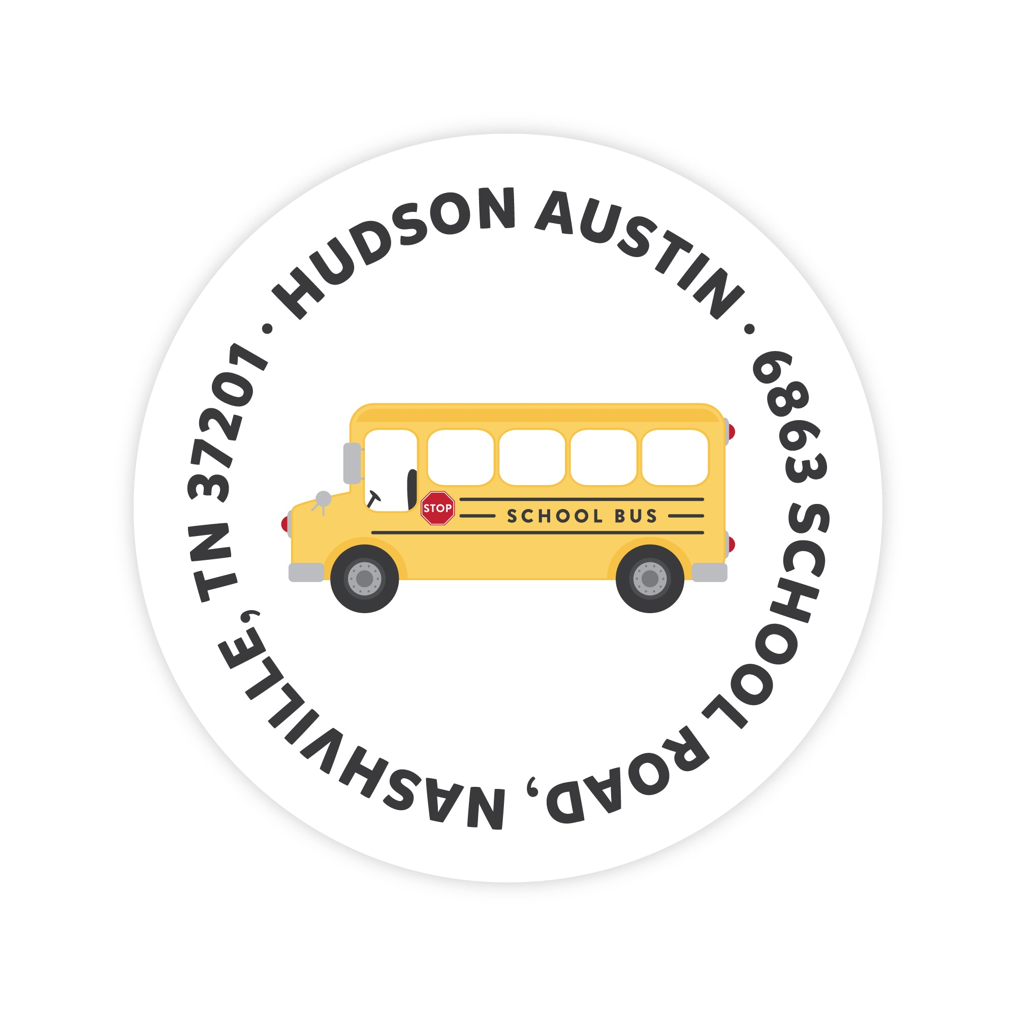 School Bus Address Labels